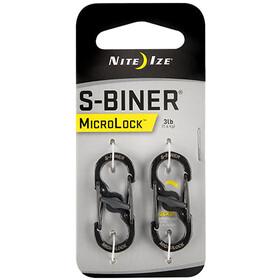 Nite Ize S-Biner MicroLock Carabiner 2-Pack black